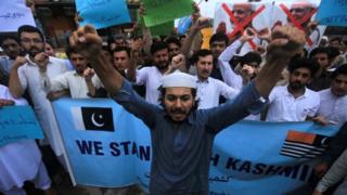مظاهرة في باكستان ضد الهند