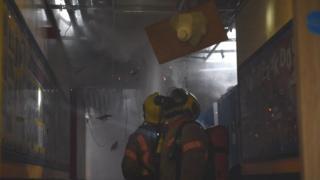 School fire interior