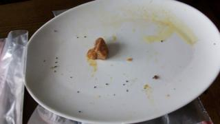 Droppings on a plate
