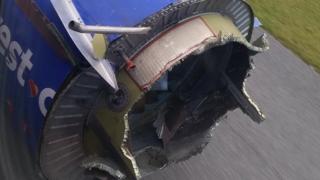 """Пользователь """"Твиттера"""" @smillerddd3 разместил фотографию одного из двигателей самолета"""