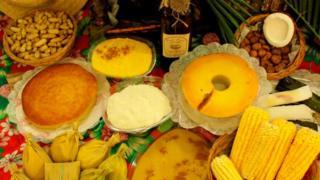 Pratos feitos com milho