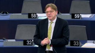 Dutch deputy Guy Verhofstadt