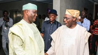 Atiku ya ci abincin rana tare da Olusegun Obasanjo