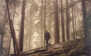 Bob Paine en bosque cuando era joven