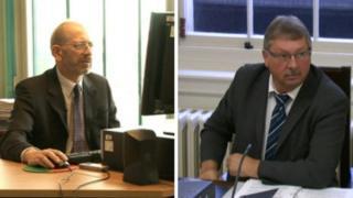 Standards Commissioner Douglas Bain and DUP MLA Sammy Wilson