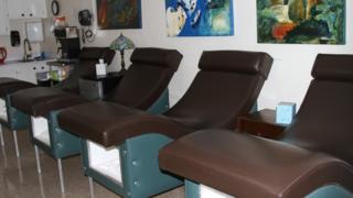 Camillas de reposo en la clínica Hope