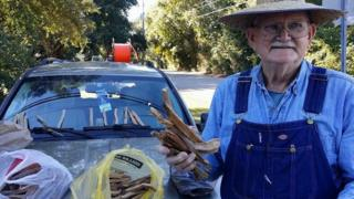 Kenneth Smith with his kindling