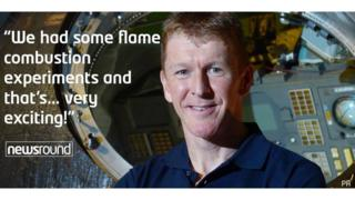 "Tim Peake: ""We had some flame combustion experiments and that's... very exciting!"""