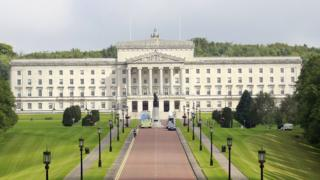 Stormont Parliament Building in Belfast, in Northern Ireland