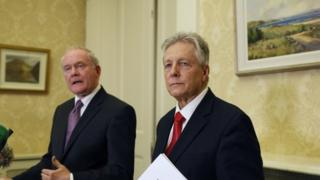 Martin McGuinness and Peter Robinson have given their support to the strategy