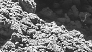 El Philae visto desde la sonda Rosetta