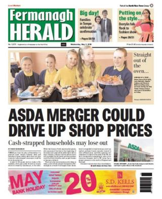 Front page of the Fermanagh Herald