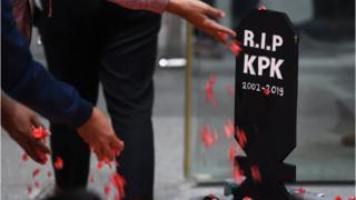 Protes revisi UU KPK