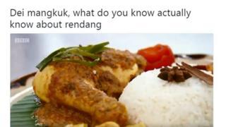 Rendang ayam yang dimasak oleh kontestan Masterchef UK bernama Zaleha Kadir Olpin