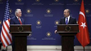 ABD Dışişleri Bakanı Rex Tillerson ve Türkiye Dışişleri Bakanı Mevlüt Çavuşoğlu