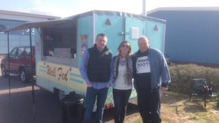 The Well catering van outside Barrow police station