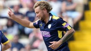 Gareth Berg celebrates