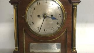 Clock presented to Henry 'Harry' Vardon