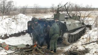 Rebels near Svitlodarsk, 19 Dec 16
