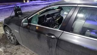 Автомобіль з розбитим склом