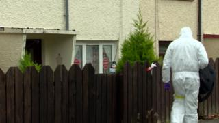 Forensic officers attended the scene in Downpatrick on Saturday