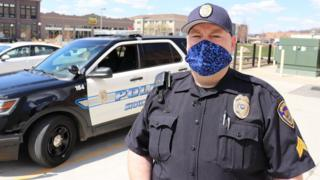 Zach Lewis, a police sergeant in Sioux City, says that he now has more down time during his shift