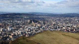 William Bark took this photo of Edinburgh from Arthur's Seat, on a cold but sunny day.