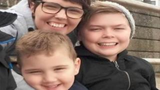 Salli Reeves, 39, and her sons Shaldon Morgan-Reeves, 5, Ellian Chapman, 13