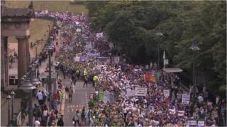 Suffrage march centenary