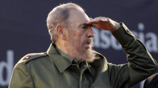 picture dated 21 July 2006 of Cuban President Fidel Castro gesturing during a political rally of the Alternative Mercosur Summit in Cordoba, Argentina.