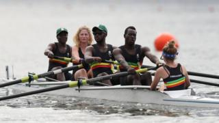 Zimbabwe's para-rowers compete in th the LTA mixed coxed four in n Rio de Janeiro, Brazil - Sunday 11 September 2016