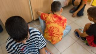 A child in a charity-run children's home in Greece