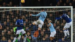 Aymeric Laporte akiifungia Manchester City dhidi ya Everton