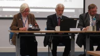Councillor Beryl Ezzard (left)