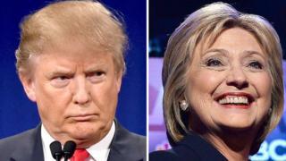 Abaharanira kuba umukuru w'igihugu muri Amerika, Donald Trump na Hilary Clinton