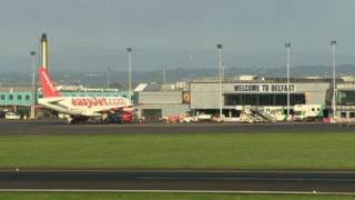 Easyjet plane in Belfast