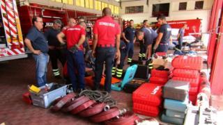 Donated firefighting equipment