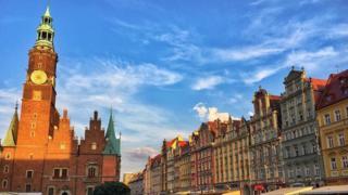 Средневековая Рыночная площадь считается одной из главных достопримечательностей Вроцлава