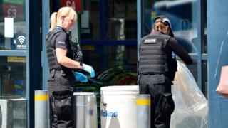 Police investigate outside Home Bargains
