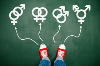 Diferentes símbolos de orientación sexual.