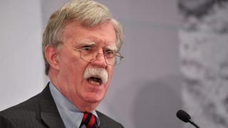 US National Security Advisor John Bolton speaks at the United Against Nuclear Iran Summit in New York