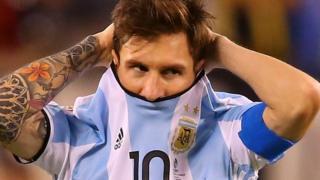 Lionel Messi akiichezea Argentina