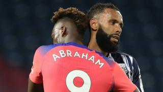 Players react at the of the Premier League match between West Brom and Chelsea