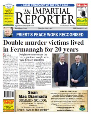 Impartial Reporter front page Thursday 1 June