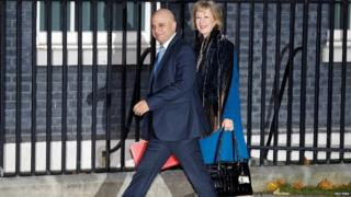 Sajid Javid and Andrea Leadsom