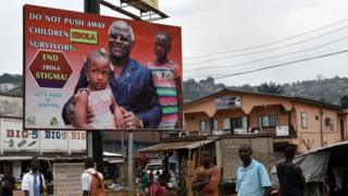 Ebola poster in Freetown