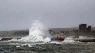 Waves at Thurso in Caithness