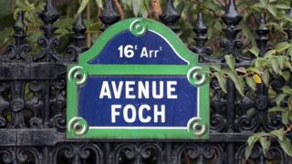 Avenue Foch street sign, file pic