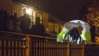 House in newry with police outside