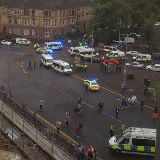 Trouble near Ibrox